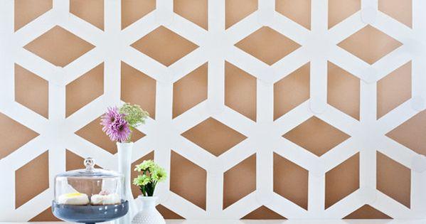 design maroc un motif g om trique pour votre mur diy motifs pinterest design comment. Black Bedroom Furniture Sets. Home Design Ideas