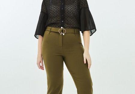 Elvi Ladies AMA Slim fit Trousers with Pearl Trim