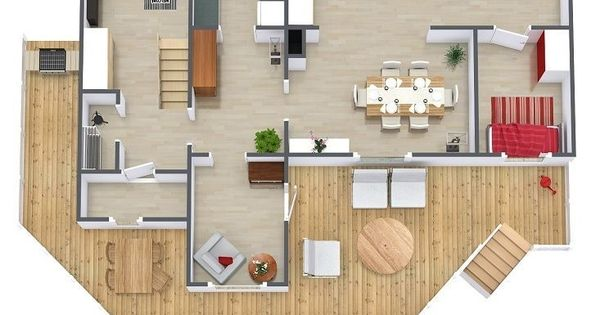 Can you find the watering can on this 3d floor plan need for Floor plans for real estate marketing