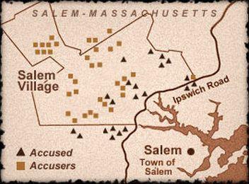 salem witch trials map Salem Life In 1692 Salem Witch Trials Salem Witch Witch Trials salem witch trials map