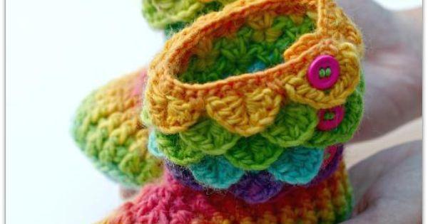Crocodile stitch boots child sizes points de couture - Bijoux au crochet modele gratuit ...