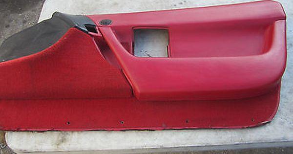 1990 1993 Corvette C4 Door Panel Red And Black Rh Passenger Gm 10085976 Oe
