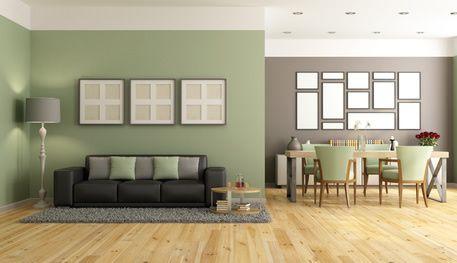 Dunkle Mobel Kombiniert Mit Gruner Wandfarbe Wohnzimmerfarbe
