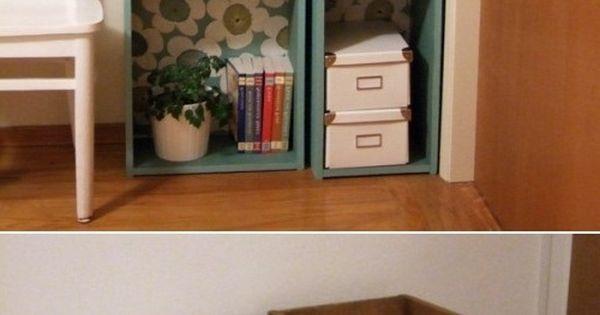 Diy modular bookcase of salvaged drawers diy storage for Diy modular bookcase