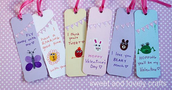 Thumbprint Valentine's Day Bookmarks | Lesson Plans | CraftGossip.com