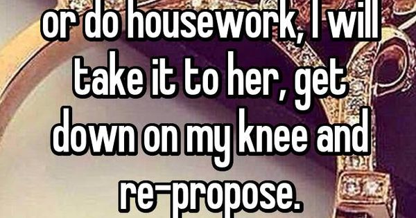 When My Wife Takes Off Her Ring To Shower Or Do Housework