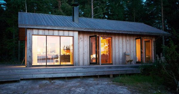 Joarc i architects holiday villas m kki summerhouse for Skandinavien haus bauen