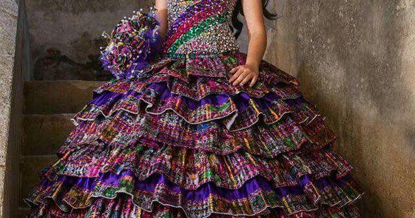 15 Anos Dresses From Mexico: Quinceañera, Traje Elaborado Con Tela Tipica , Guatemala