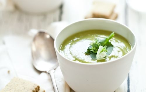 Asparagus and Pea Soup with Herb Crackers... Perfect for ...