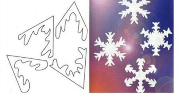 ideas of cutting paper snow flakes