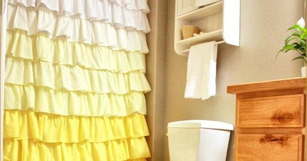 Ruffled shower curtains, Sew and Showers on Pinterest