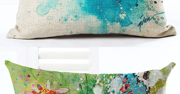 Diy Boho Throw Pillows : 45cm Boho Water Color Birds Fashion Custom DIY Cotton Linen Throw Pillow Hot Sale 18 Inch New ...