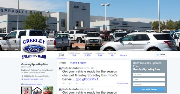Stay Up To Date With Greeley Spradley Barr Ford On Twitter Https