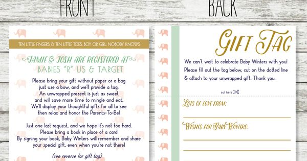 Wedding Invitation Registry Wording: Wording For Unwrapped Gift For