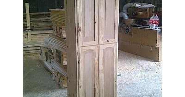 Mueble Cocina Alacena Placard Armario Pino Macizo 4 Puertas 2 950 00 Armarios Muebles De Cocina Losas Macizas