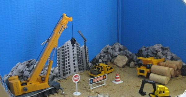 Construction Site Toys For Boys : Construction site diorama toys for kids and ranges