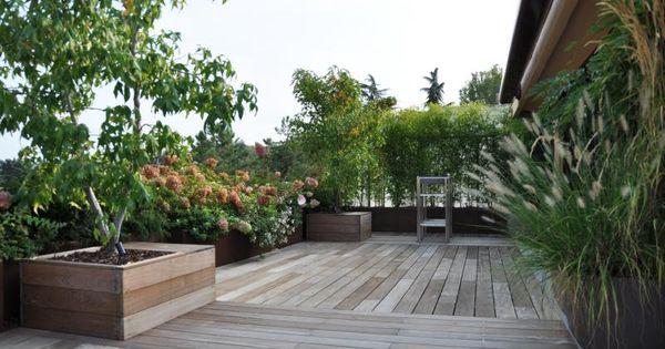 terrazza pavimentazione in legno Roof Gardens, terraces ...