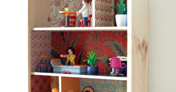 Recycled wooden wine box dollhouse poppenhuis ideeen for Poppenhuis voor peuters