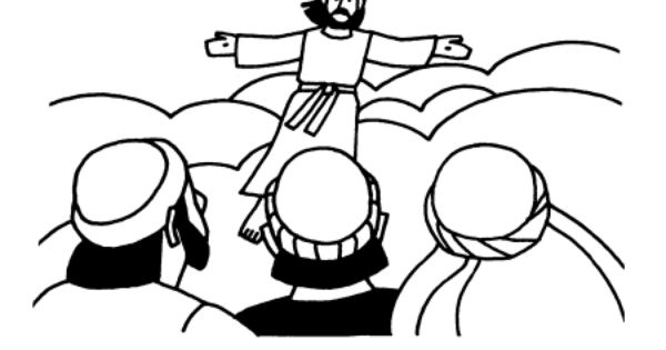 the great commission coloring page - e01 great commission and ascension of jesus jesus