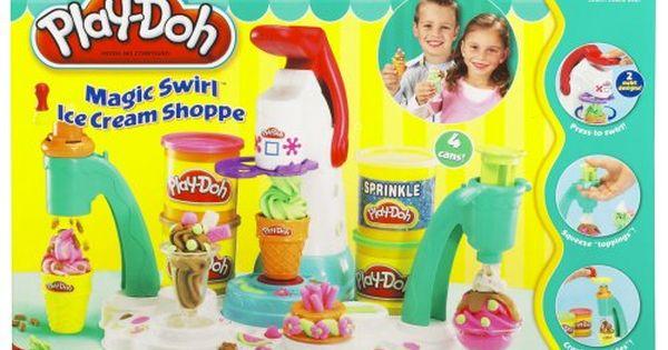 Amazon Com Play Doh Magic Swirl Ice Cream Shoppe Toys Games Play Doh Play Doh Toys Toys