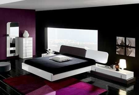 25 Bold Bedroom Designs Created With Bright Bedroom Colors White Bedroom Design Minimalist Bedroom Minimalist Bedroom Design Purple minimalist room design view