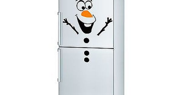 Olaf Frozen Disney Fridge Decal Vinyl Sticker Children Kids Let It Go Bedroom Decoracion De Refrigerador Olaf Frozen Olaf
