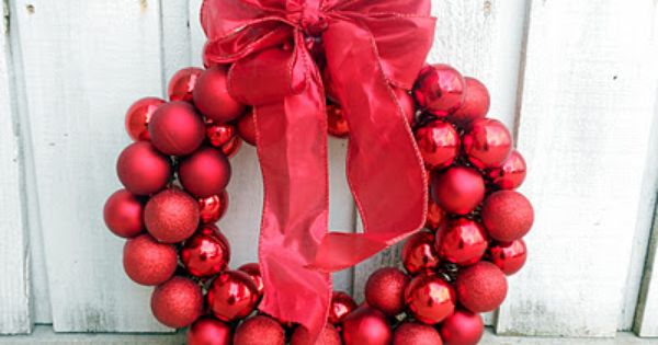 $6 Dollar Wire Hanger Christmas Wreath