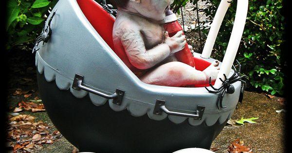 Repurposed Little Tikes Baby Stroller Into Coffin Stroller