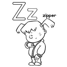 Top 10 Free Printable Letter Z Coloring Pages Online Alphabet