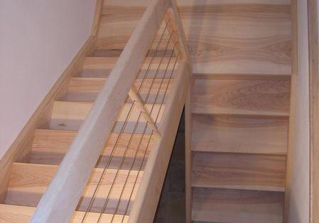 06 01 escalier deux quart tournant avec palier espace bois cham sous sol pinterest sous. Black Bedroom Furniture Sets. Home Design Ideas
