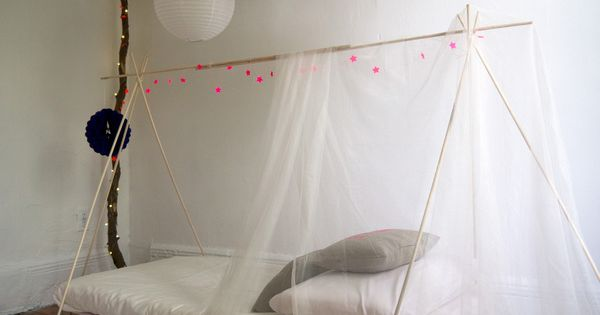Tent Canopy kids room bed paper lanterns