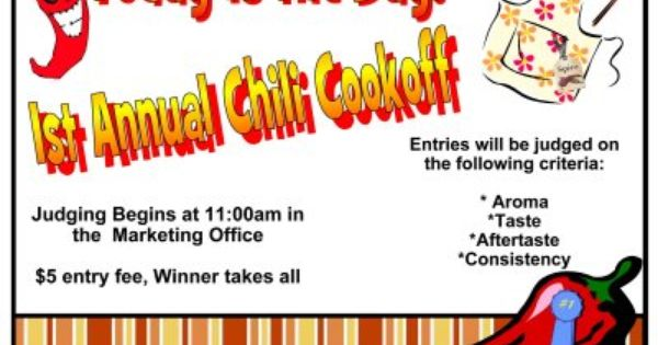 Ideas For Party Flyers Joy Studio Design Gallery Best Design Chili Cook Off Cook Off Certificate Templates