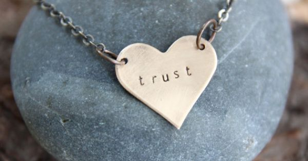 Let yourself choose trust today. :: a customizable hand stamped necklace