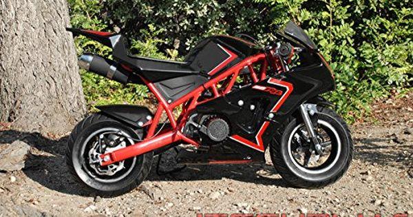 Mini Pocket Bike 50rr Gas Powered 2 Stroke 50cc Red Black Http Www Bestdealstoys Com Mini Pocket Bike 50rr Gas Powered 2 Stroke Pocket Bike Bike Bike Swag