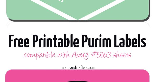 free printable purim labels