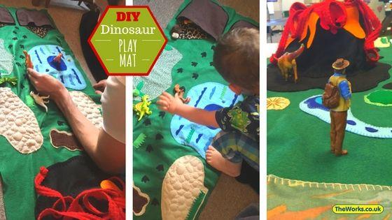 How I Made A Felt Dinosaur Play Mat For My Son Dinosaur Play Felt Diy Play Mat