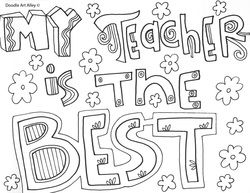 Coloring Pages For Teacher Appreciation Week Portraits
