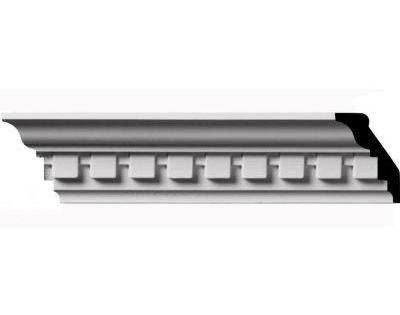 Ekena Millwork 1 7 8 In X 2 3 4 In X 96 In Polyurethane Dentil Crown Moulding Factory Primed White Crown Molding Dentil Moulding Home Improvement