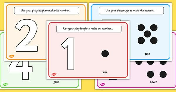 Simple Number Playdough Mats (1-10) | Free Resources