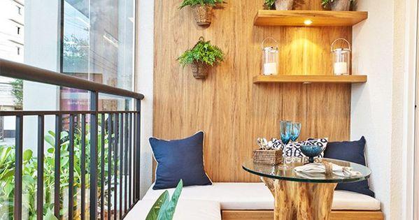 Decor varandas decor pinterest sof embutido for Narrow balcony design ideas