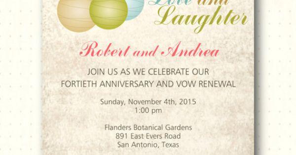 50th Wedding Vow Renewal Invitations: Vow Renewal Invitation, Wedding Anniversary, 25th