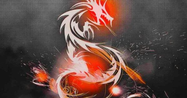 orange glow dragons wallpaper - photo #9