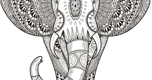 11 free printable adult coloring pages paisley coloring for Paisley elephant coloring pages