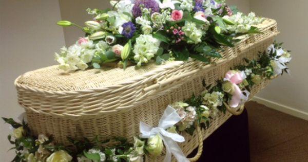 Casket Spray For Wicker Coffin Casket Flowers Funeral Flower Arrangements Funeral Flowers