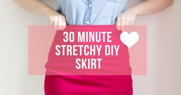 The ultimate DIY stretchy pencil skirt. Going to make this up in