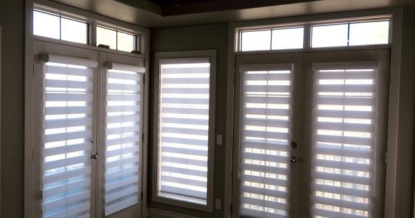 Dual Roller Shades On French Doors By Sheila S Window