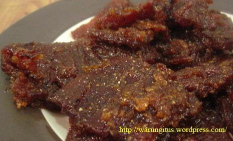 Cara Membuat Dendeng Sapi Dendeng Sapi Dendeng Resep Masakan Indonesia