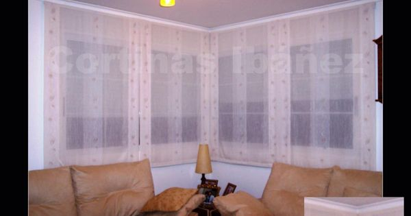 Combinaci n de 4 estores paqueto con cortina en barra de - Confeccionar estores paqueto ...