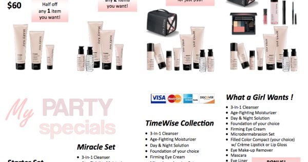 Free Printables: Mary Kay® Party Specials | QT Office Blog