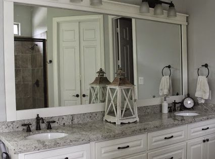 Best Bathroom Mirror Colonial White Granite White Dove 400 x 300